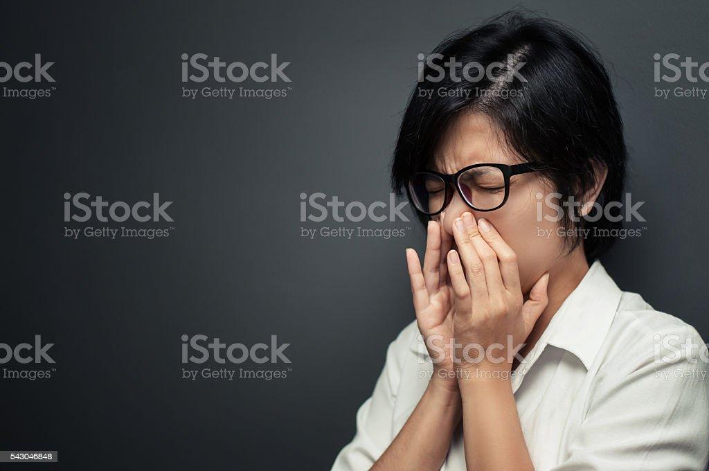 sinus pain. stock photo