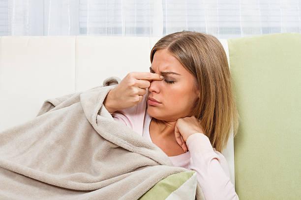 sinusitis - bijholte stockfoto's en -beelden