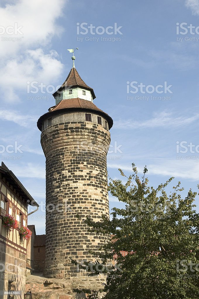 Sinwell Tower of Nuremberg Castle in Germany royalty-free stock photo