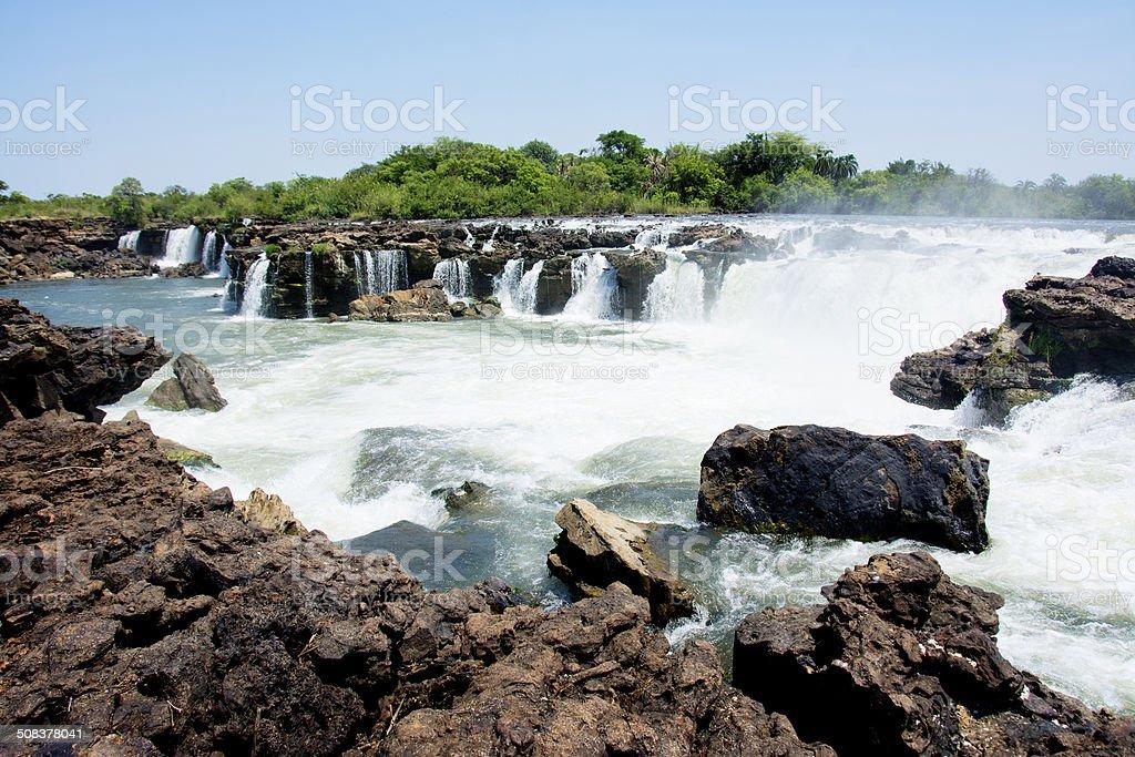 Sioma Falls, Zambia stock photo