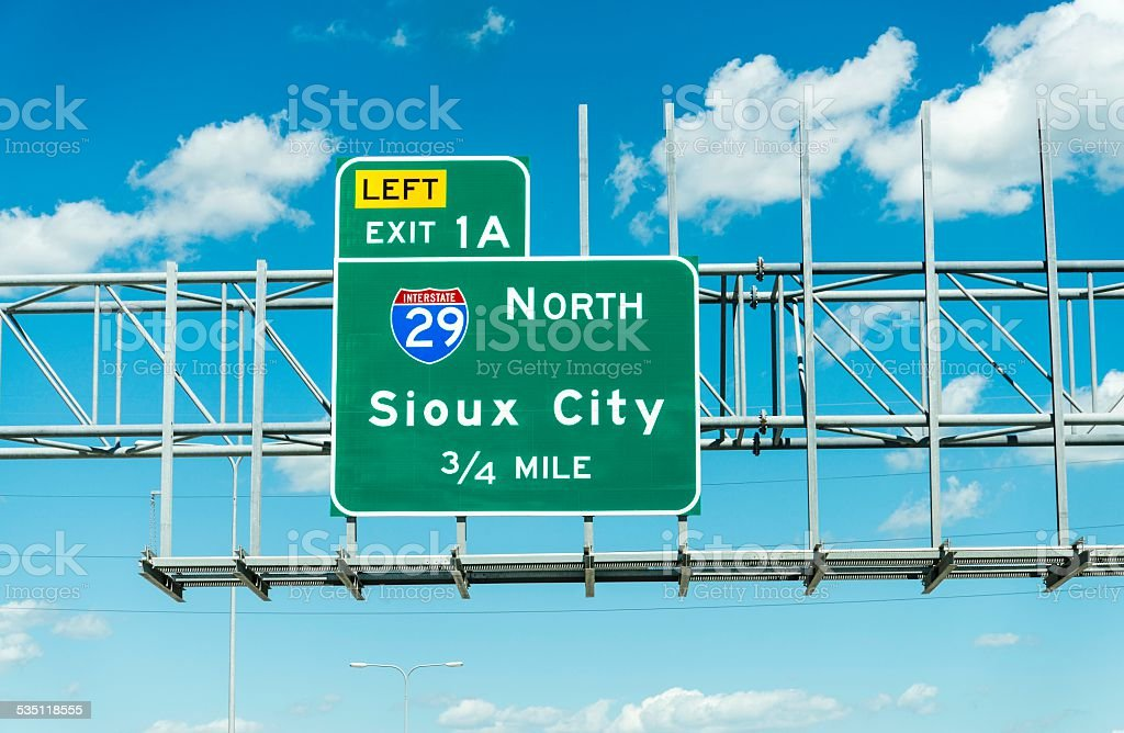 Sioux City Exit stock photo