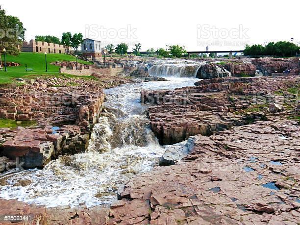 Sioux Falls Falls Park South Dakota Stock Photo - Download Image Now