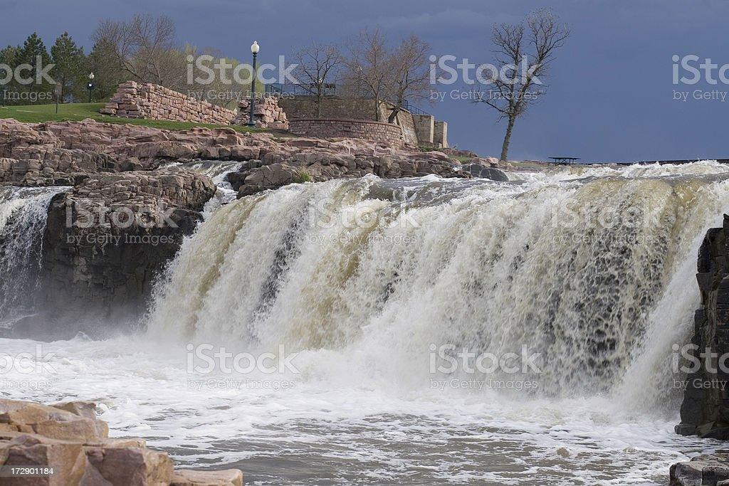 Sioux Falls South Dakota Waterfalls royalty-free stock photo