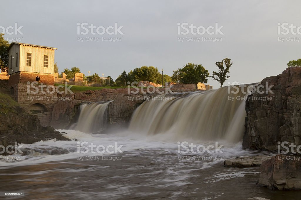 Sioux Falls Waterfall stock photo