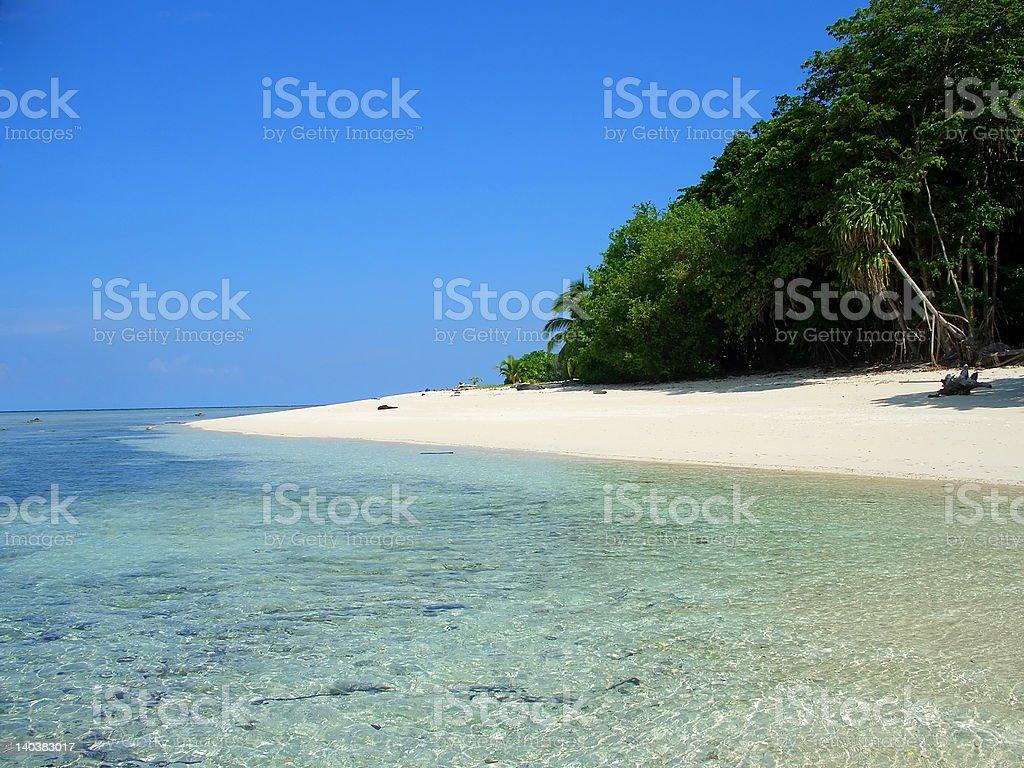 Sipadan island beach, Sabah, Malaysia royalty-free stock photo