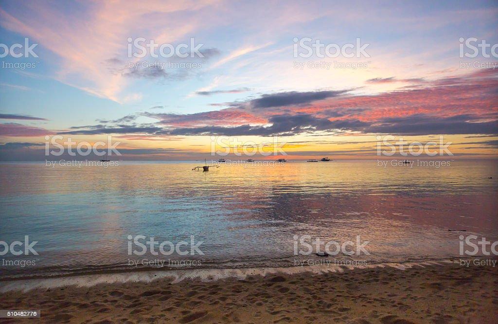 Sipalay Sonnenuntergang, Philippinen – Foto
