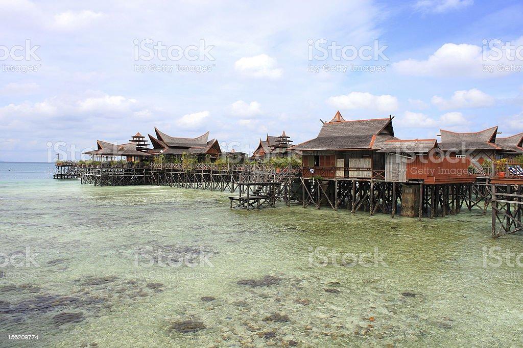 Sipdan Water Village Resort stock photo