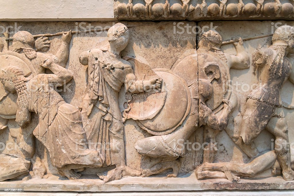 Siphnian Treasury from the Ancient Greek civilization (ca. 530 BC) stock photo
