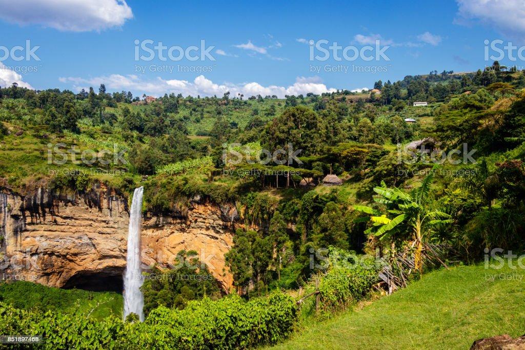 Sipi falls stock photo