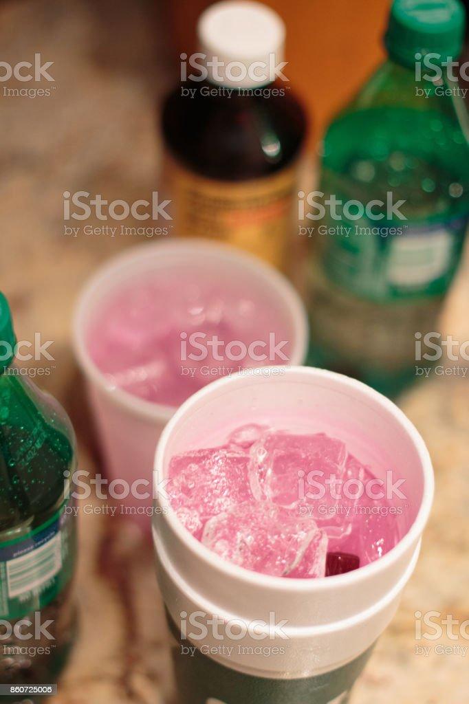 Bebiendo Sizzurp - foto de stock