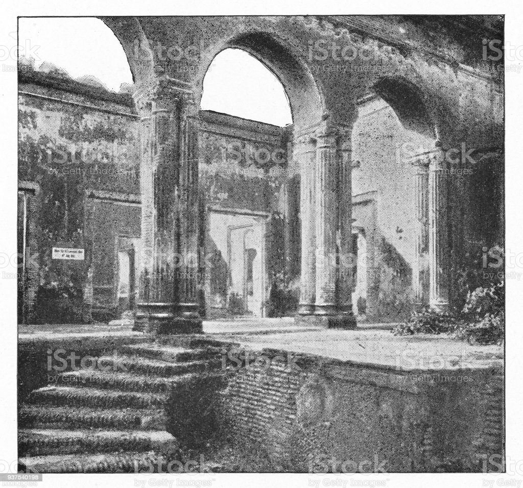 Sir Henry Lawrence's Death Location at The Residency in Lucknow, India - British Era stock photo