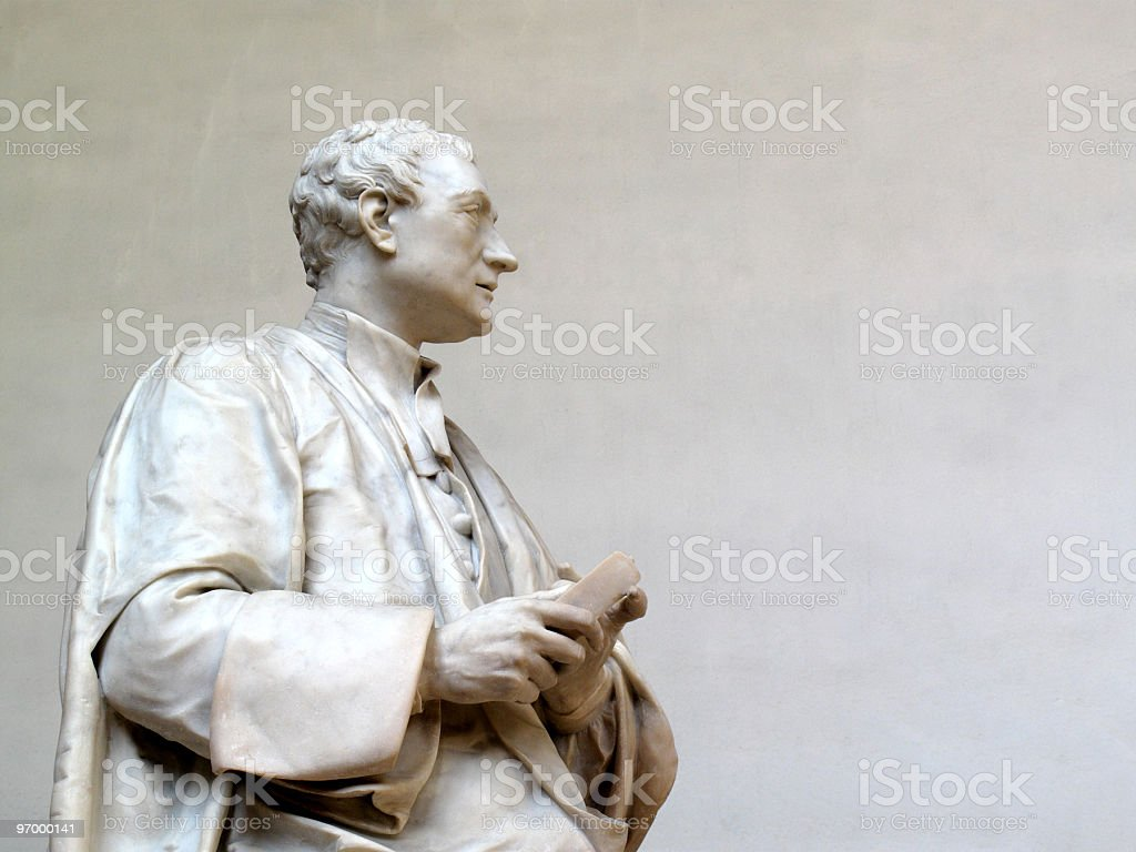 Sir Isaac Newton statue stock photo