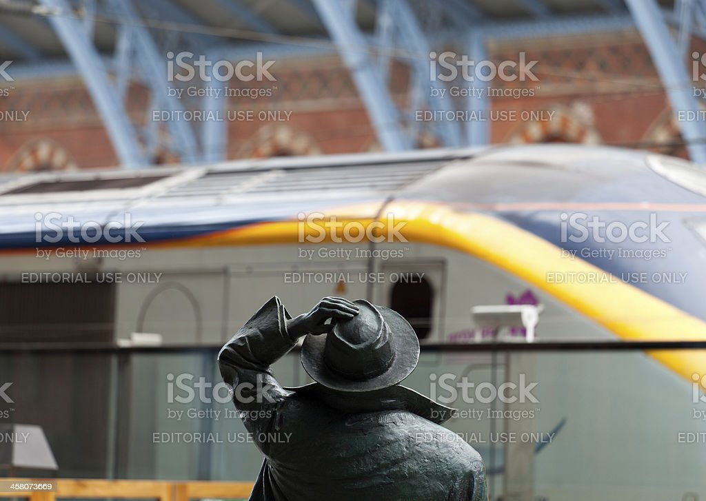 Sir John Betjeman statue stock photo