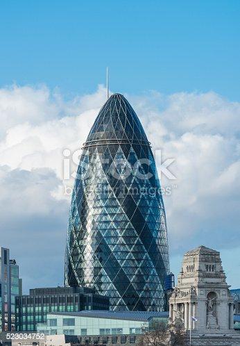 Sir Norman Foster Building (The Gherkin), London, UK