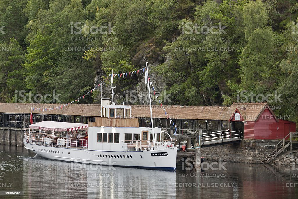 SS Sir Walter Scott, Loch Katrine, Trossachs, Scotland. stock photo