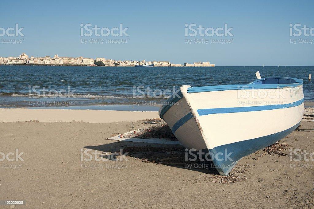Siracusa, Porto Grande, in Sicily. stock photo