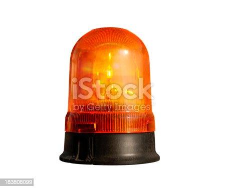 174913699 istock photo siren light on white 183808099