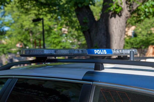 Siren of a Finnish police car - Polis stock photo