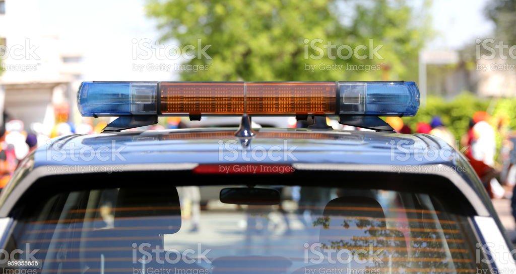 siren of a police car stock photo