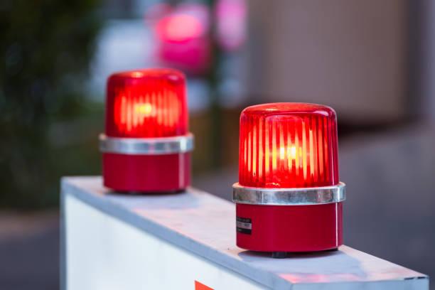Sirene Rotlicht mit Soft-Fokus im Hintergrund. – Foto