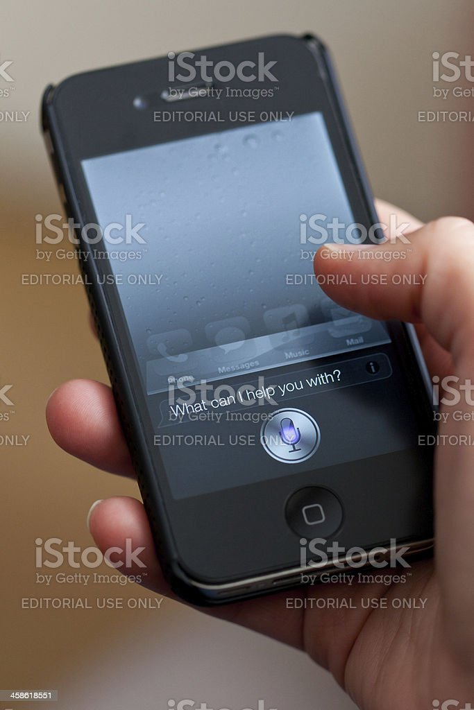 Siri royalty-free stock photo