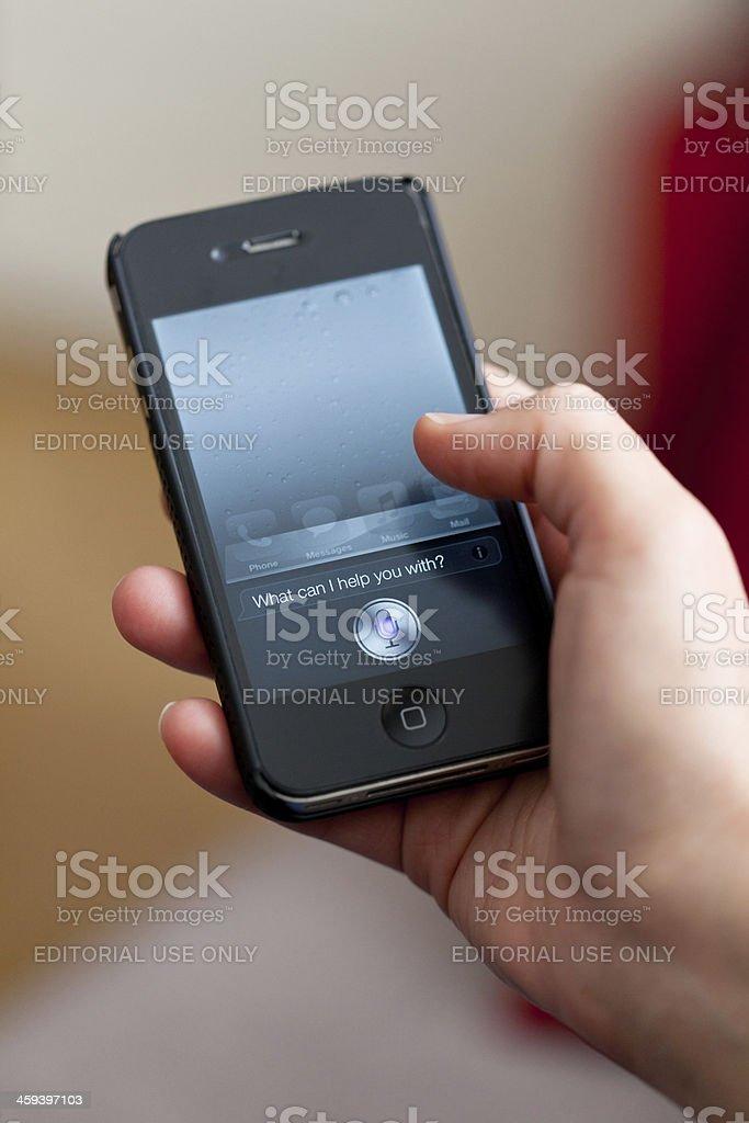 Siri royalty-free stock photo