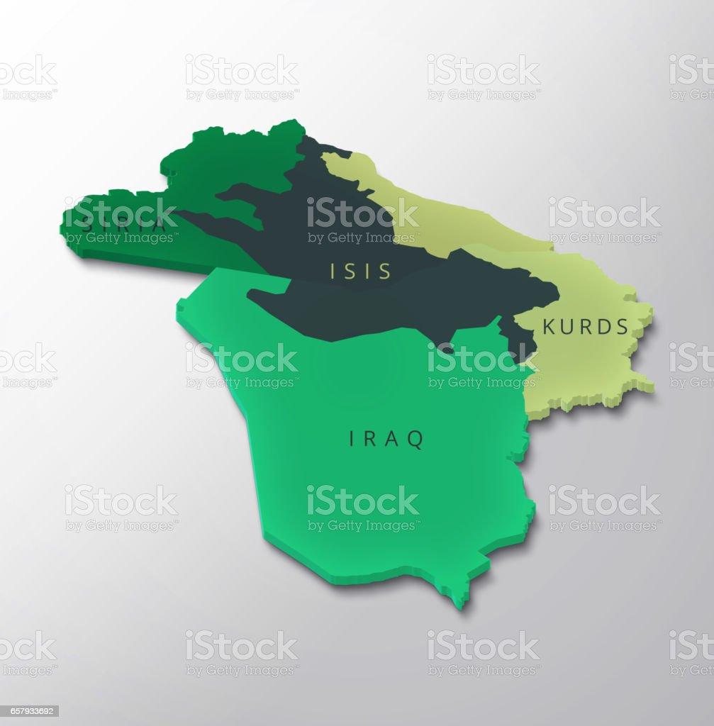 Syrien Irak Karte.Syrien Irak Kurden Isis Karte Erfassten Gebiet Im Irak Und In Syrien