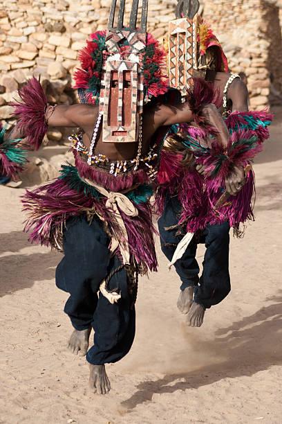 Sirige mask and the Dogon dance, Mali. stock photo