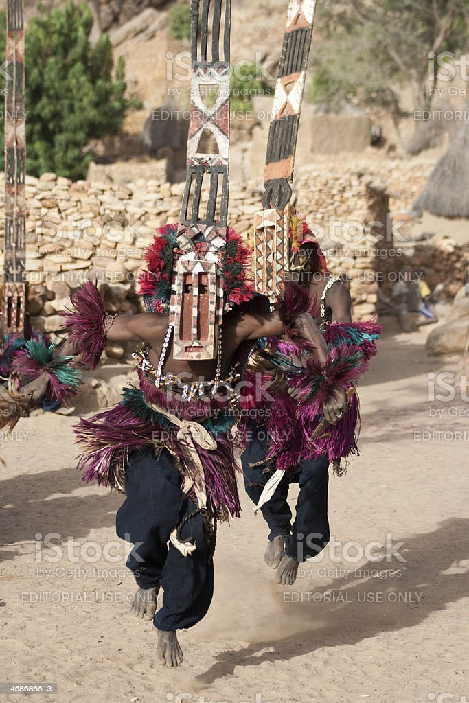 Sirige mask and the Dogon dance, Mali. stock photo