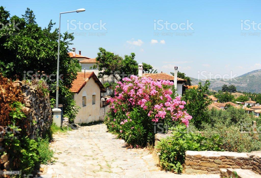 Sirince scenery in Turkey. stock photo