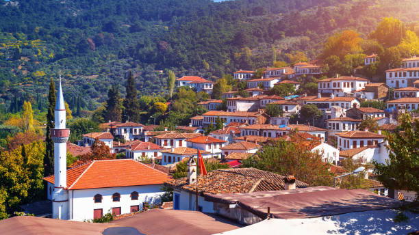 Sirince village in Izmir Province, Turkey. stock photo