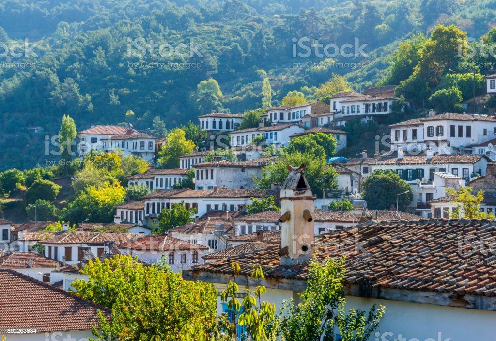 Sirince Village in Turkey stock photo