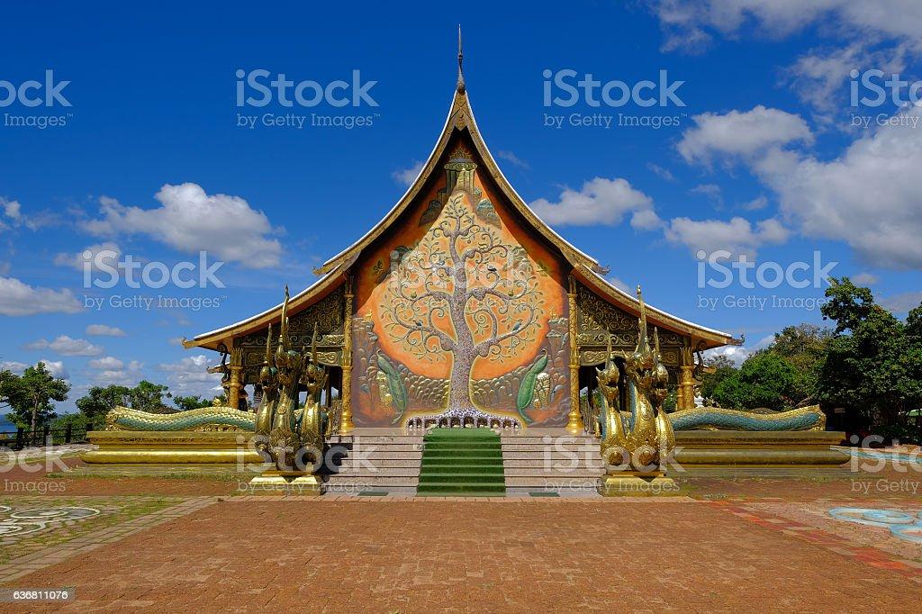 Sirindhorn Wararam Temple (Phu Prao Temple), Ubon Ratchathani, Thailand. – Foto