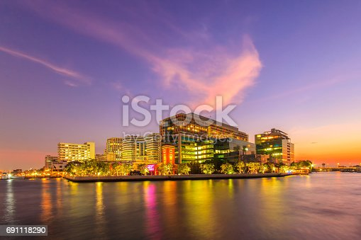 istock Siriraj Hospital, A major government hospital in Bangkok, Thailand situated by the Chao Phraya River 691118290