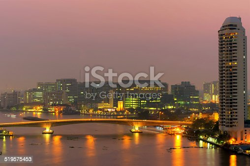 Sirirat Hospital, a major government hospital in Bangkok, Thailand situated by the Chao Praya River