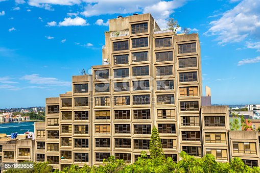 istock Sirius, a brutalist style apartment complex in Sydney, Australia. Built in 1980 657669656