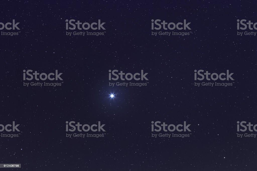 Sirius-hellste Stern am Nachthimmel. Sirius Star. – Foto