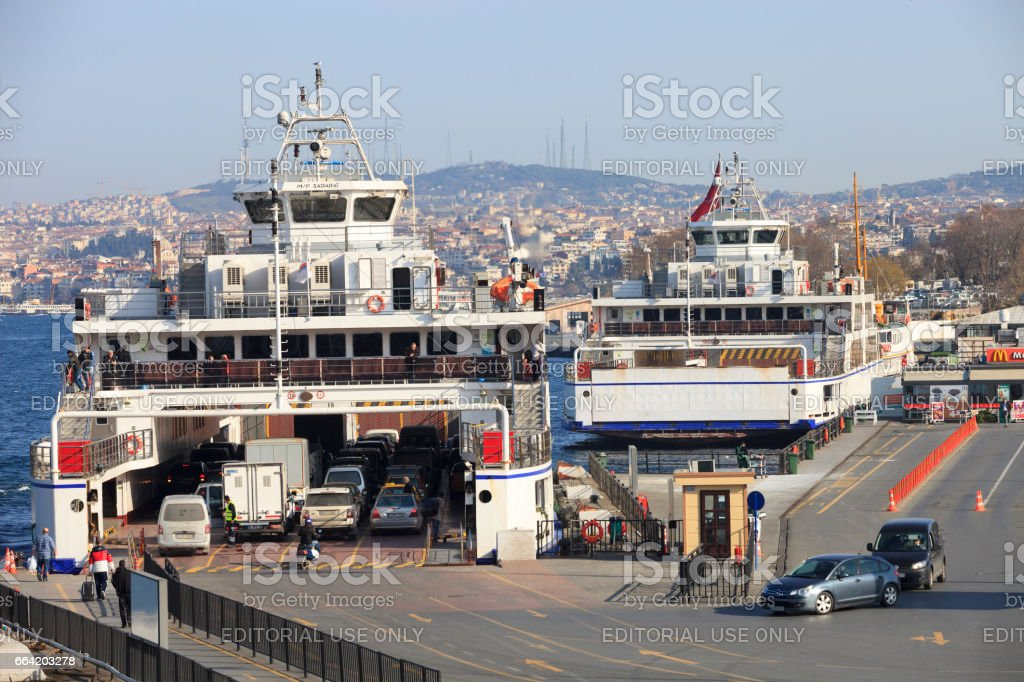 Sirkeci Ferry Boat Port stock photo