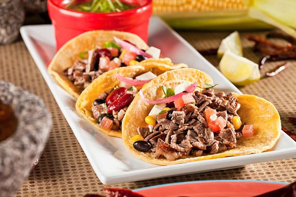 Lomo Fajita Tacos - foto de stock