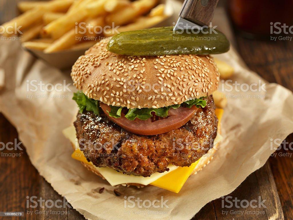 Sirloin Steak Burger royalty-free stock photo