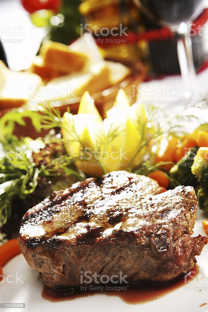Sirloin Steak royalty-free stock photo