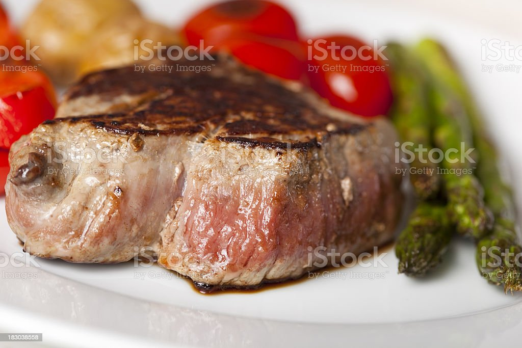 Sirloin steak with vegetables royalty-free stock photo
