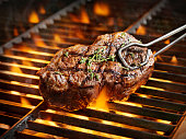 BBQ Sirloin Steaks with Fresh Thyme