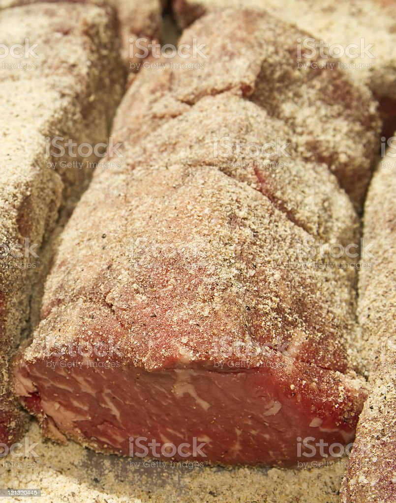 Sirloin with dry rub royalty-free stock photo