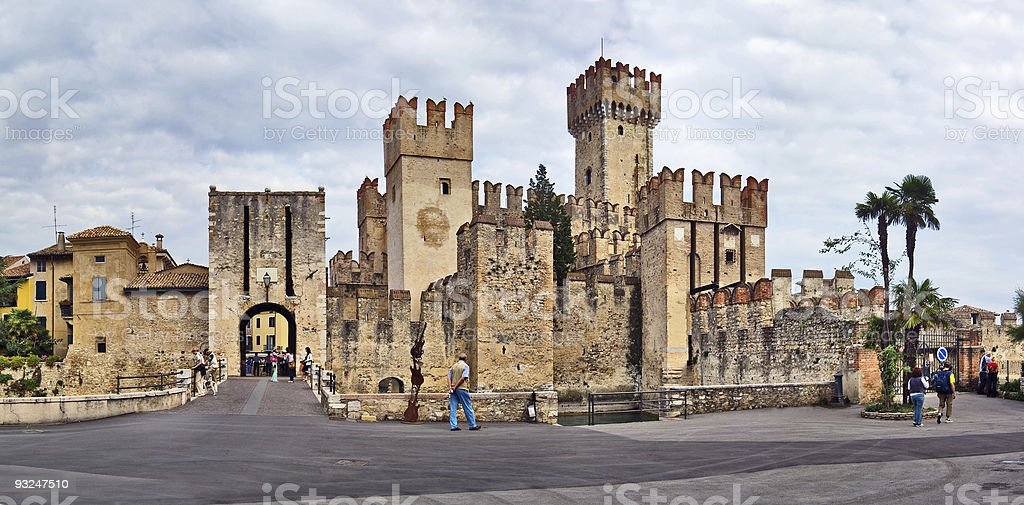 Sirmione Castle, Italy royalty-free stock photo