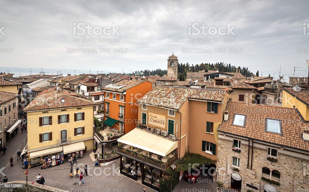 Sirmione cityscape, Lake Garda Lombardy Italy stock photo