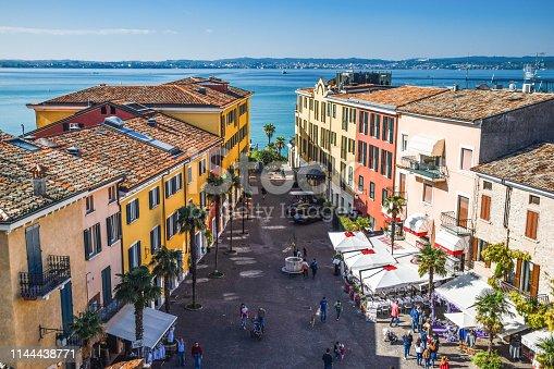 Sirmione cityscape near Garda lake - Italy