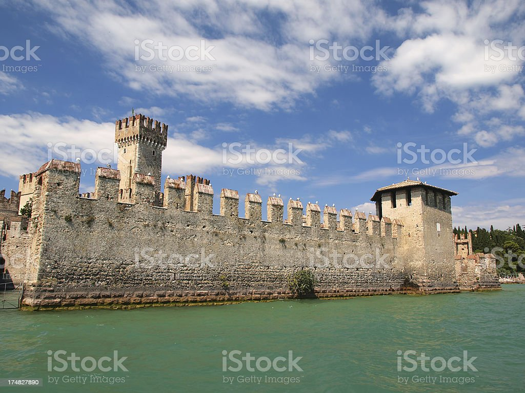 Sirmione fortification stock photo