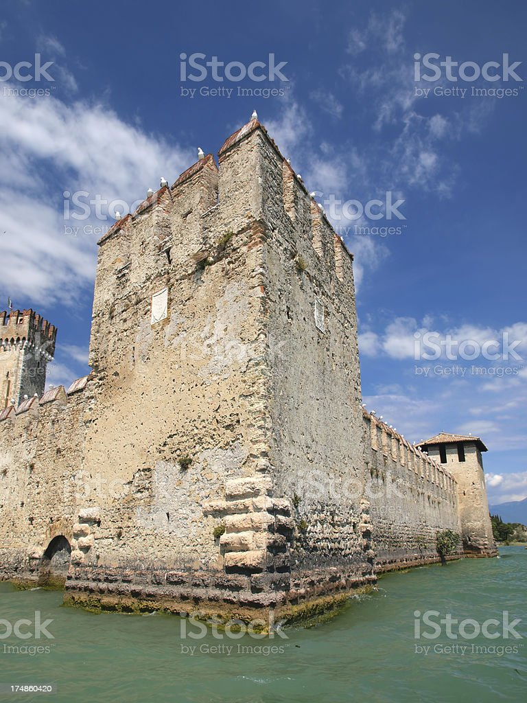Sirmione fortress detail stock photo