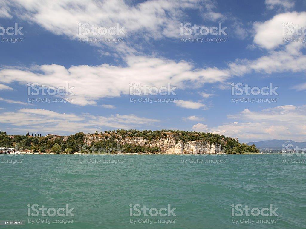 Sirmione peninsula royalty-free stock photo